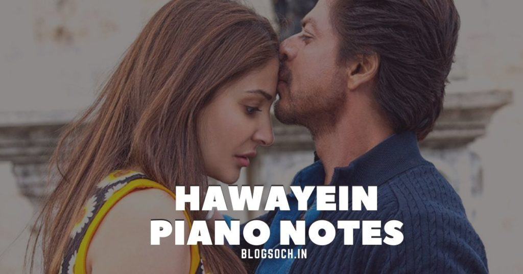 Hawayein Piano Notes